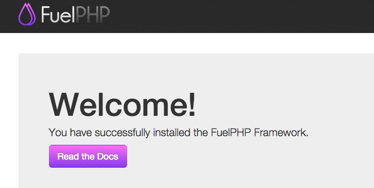 Fuelphp Welcomeページ